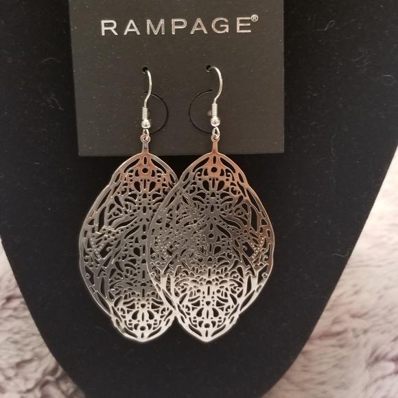 Rampage Jewelry - Silver dangle earrings.